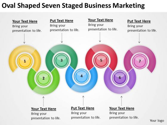 Shaped Seven Staged Business Marketing Ppt Example Of Good Plan PowerPoint Templates
