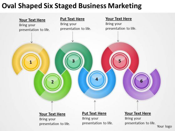 Shaped Six Staged Business Marketing Ppt Startup Plan Template PowerPoint Templates