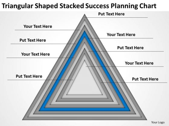 Shaped Stacked Success Planning Chart Ppt Business PowerPoint Templates