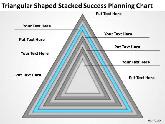 Shaped Stacked Success Planning Chart Ppt Sales Business Outline PowerPoint Templates