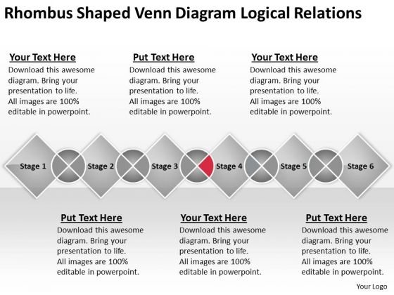 Shaped Venn Diagram Logical Relations Ppt Business Plans Sample PowerPoint Templates