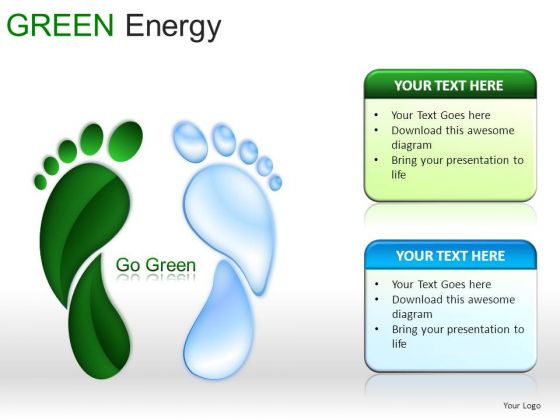 Shapes Green Energy PowerPoint Slides And Ppt Diagrams Templates