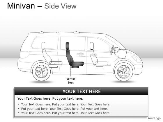 Shapes Green Minivan Side View PowerPoint Slides And Ppt Diagrams Templates