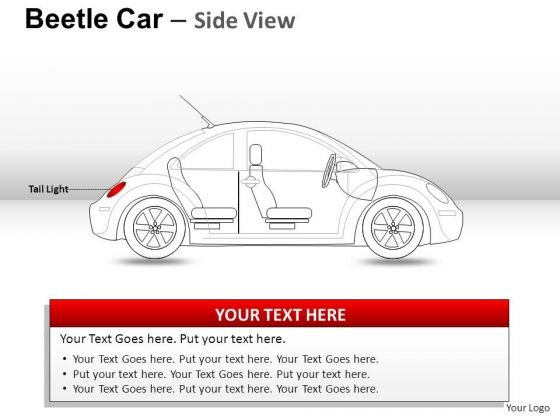 Shapes Red Beetle Car PowerPoint Slides And Ppt Diagram Templates