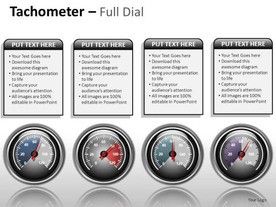 Shapes Tachometer Full Dial PowerPoint Slides And Ppt Diagram Templates