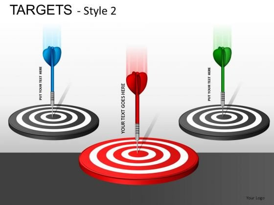 Shapes Targets 2 PowerPoint Slides And Ppt Diagram Templates