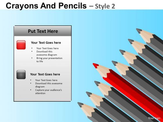 Sharpened Pencils Leadership PowerPoint Templates Ppt Slides