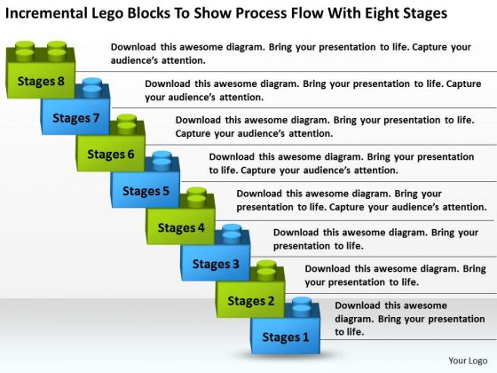 Show Process Flow With Eight Stages Ppt Company Description Business Plan PowerPoint Templates