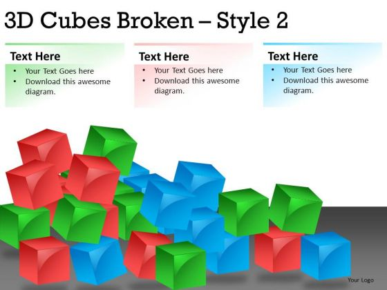 Show System Broken Down With Cubes PowerPoint Slides And Ppt Diagram Templates