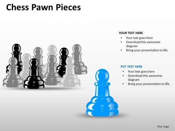 Show Team With Chess Pawn Pieces PowerPoint Slides And Ppt Diagram Templates