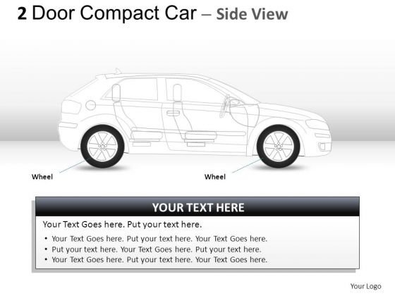 Side 2 Door Gray Car Side PowerPoint Slides And Ppt Diagram Templates