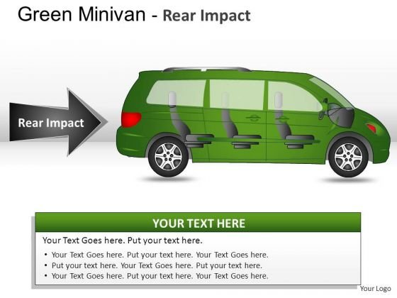 Side Green Minivan Side View PowerPoint Slides And Ppt Diagrams Templates