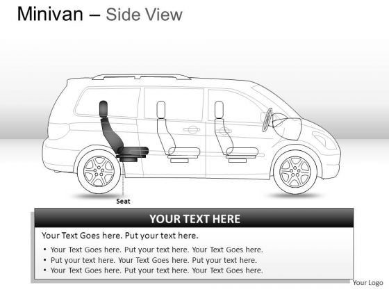 Sideview Green Minivan Side View PowerPoint Slides And Ppt Diagrams Templates
