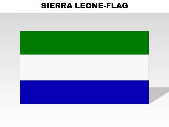 Sierra Leone Country PowerPoint Flags