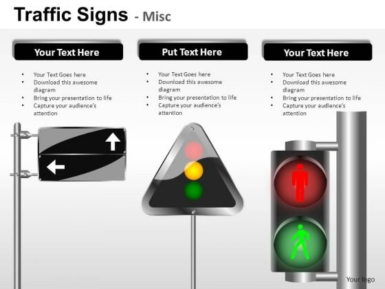 Signmark Symbol Traffic Signs PowerPoint Slides And Ppt Diagram Templates