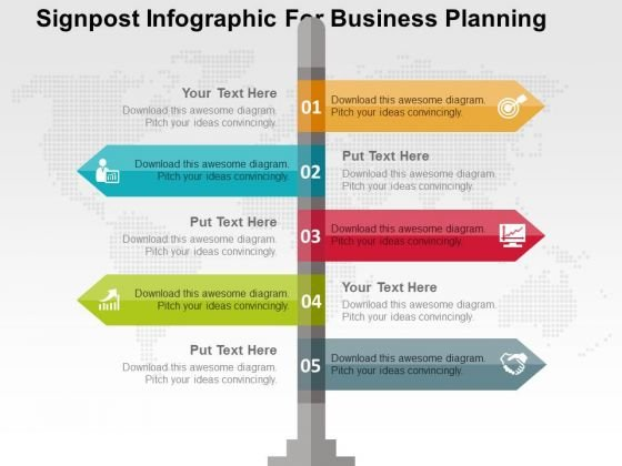 Signpost Infographic For Business Planning PowerPoint Templates