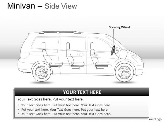 Signs Green Minivan Side View PowerPoint Slides And Ppt Diagrams Templates