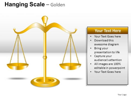Signs Hanging Scale Golden PowerPoint Slides And Ppt Diagrams Templates
