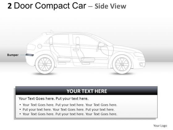 Silver 2 Door Gray Car Side PowerPoint Slides And Ppt Diagram Templates