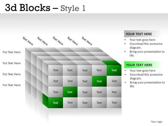 Silver 3d Blocks 1 PowerPoint Slides And Ppt Diagram Templates