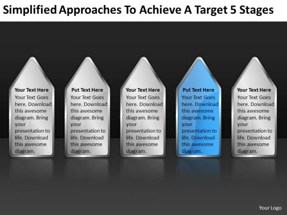 Simplified Approaches To Achieve Target 5 Stages Start Up Business Plan PowerPoint Slides