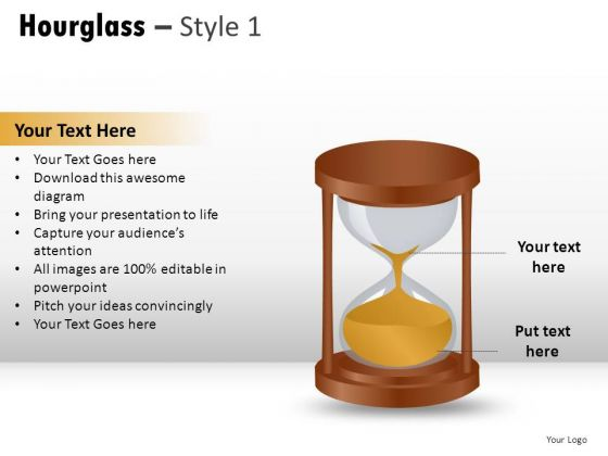 Single Stopwatch Hourglass 1 PowerPoint Slides And Ppt Diagram Templates