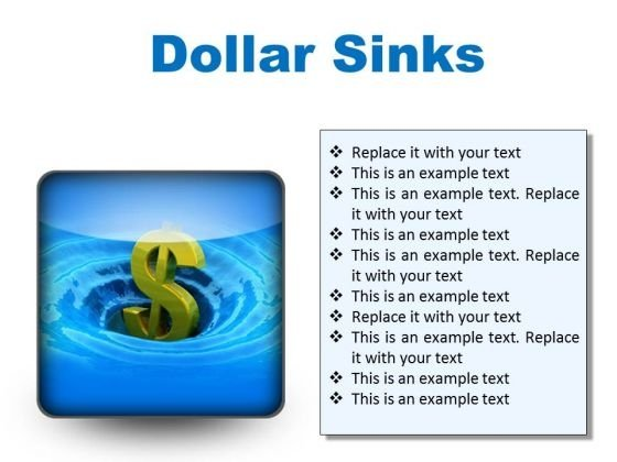 Sinks Dollar Finance PowerPoint Presentation Slides S