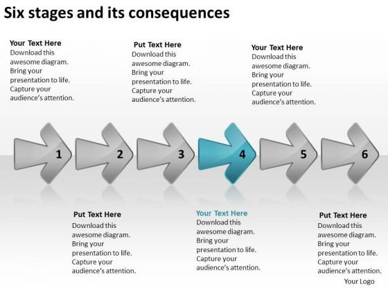 Six Stages And Its Consequences Business Plan Writing Software PowerPoint Templates