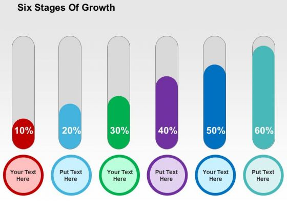 six stages of growth powerpoint template - powerpoint templates, Modern powerpoint