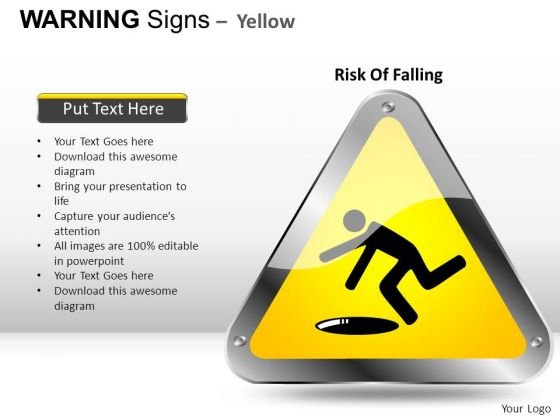 Slippery Warning Signs PowerPoint Slides And Ppt Diagram Templates