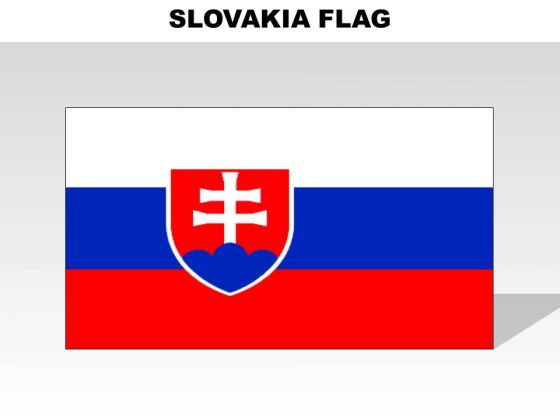Slovakia Country PowerPoint Flags