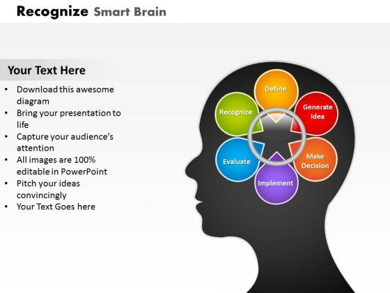 Smart Brain For Problem Solving PowerPoint Presentation Template