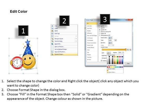 smiley_wishing_happy_new_year_2013_flow_chart_creator_online_powerpoint_templates_3