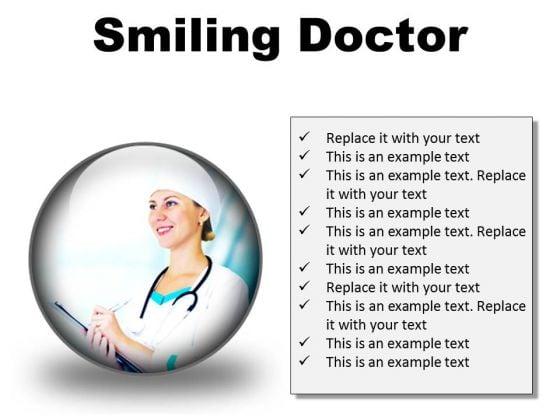 Smiling Doctor Medical PowerPoint Presentation Slides C