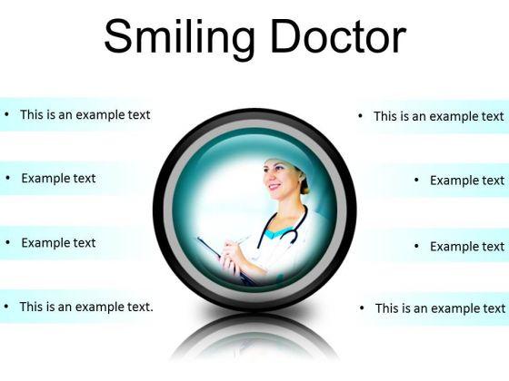 Smiling Doctor Medical PowerPoint Presentation Slides Cc