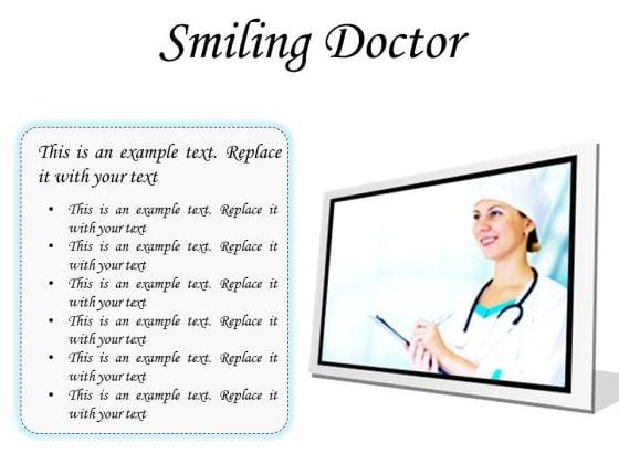 Smiling Doctor Medical PowerPoint Presentation Slides F
