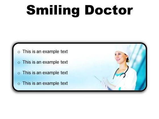 Smiling Doctor Medical PowerPoint Presentation Slides R