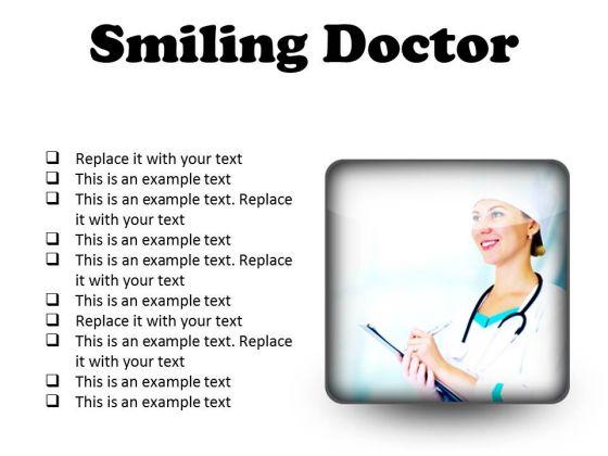 Smiling Doctor Medical PowerPoint Presentation Slides S