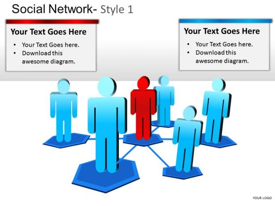 Social Media Network Marketing PowerPoint Presentation Slides Diagrams
