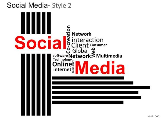 Social Media Wordcloud PowerPoint Slides And Ppt Templates