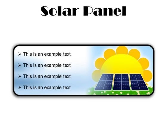 Solar Panel Geographical PowerPoint Presentation Slides R