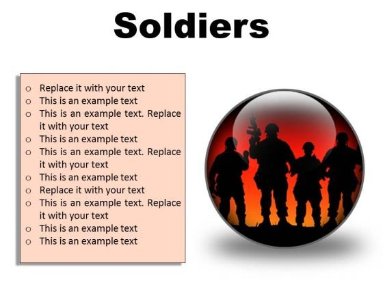 Soldiers Youth PowerPoint Presentation Slides C