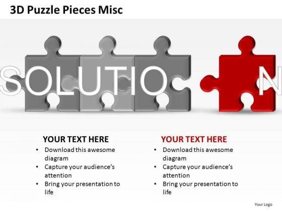 Solution 3d Puzzle PowerPoint Slides
