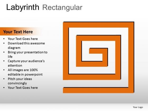 Solution Maze Rectangular PowerPoint Slides And Ppt Diagram Templates