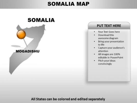 Somalia Country PowerPoint Maps