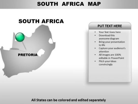 South Africa Country PowerPoint Maps