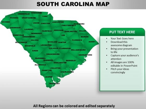 South Carolina PowerPoint Maps