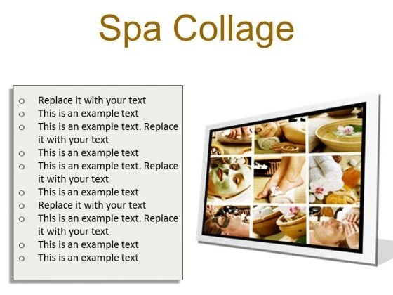 Spa Collage Beauty PowerPoint Presentation Slides F