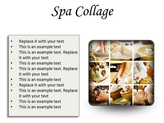 Spa Collage Beauty PowerPoint Presentation Slides S