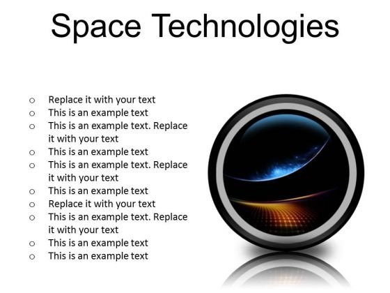 Space Technologies Abstract PowerPoint Presentation Slides Cc